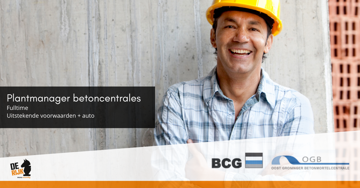 Vacature Plantmanager betoncentrale